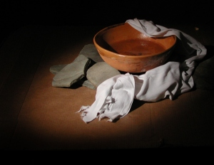 A servant's towel and bowl