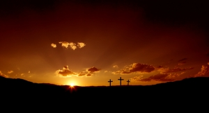 crosses  sunrise