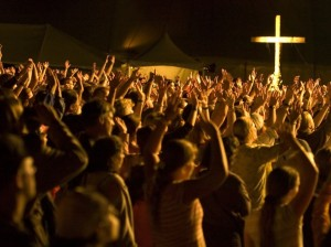 Worship crowd